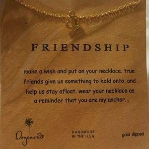 """Friendship"" Golden Anchor Necklace"